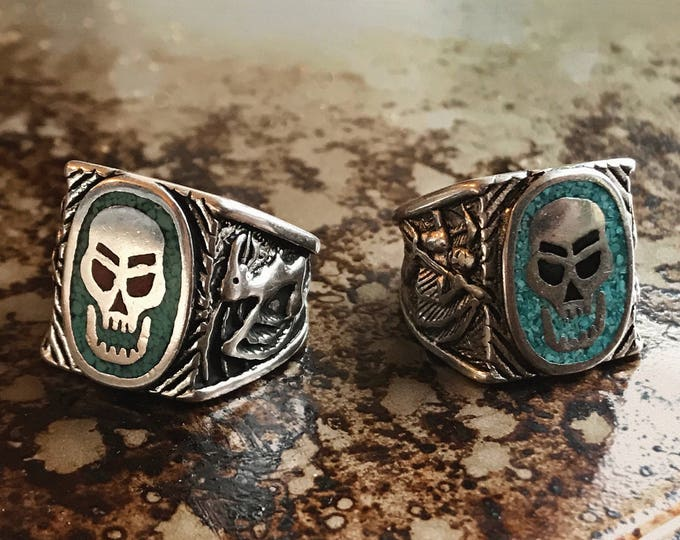 Featured listing image: Search & Destroy turquoise biker ring