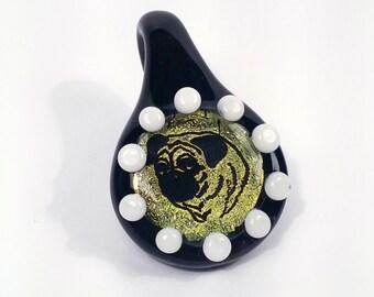 Pug - Dichroic Glass Pendant