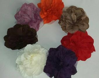 Flower pins, Fabric flower pins