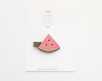Watermelon Hair Clip / Baby Watermelon Hair Clip / Summer Baby Hair Clip / Summer Hair Clip / Photo Prop/ Gift for Girl / Watermelon Party