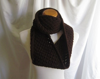 Infinity Scarf Cowl Crochet - Chocolate Brown