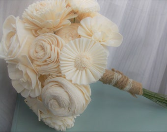 Bridal Wood Flower Bouquet