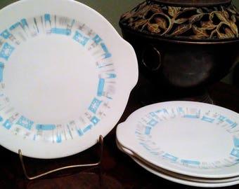 Blue Heaven Tab Handled Plates