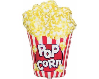 """38"""" Giant Popcorn Foil Balloon - red carpet, oscars, movie star themed birthday party"""