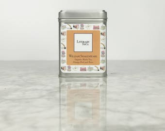 William Shakespeare Tea - Loose Leaf Tea The perfect Literary gift, Mothers Day Gift for Tea Lover, Book Lover or Bibliophile! Black Tea