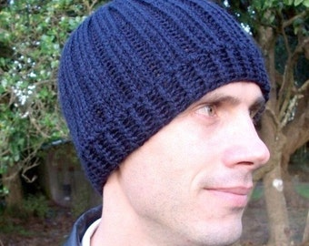 Download Now - CROCHET PATTERN Knit-Look Ribbed Beanie - Adult Sizes - Pattern PDF