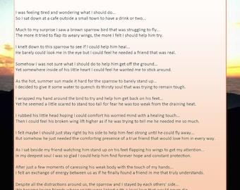 My Broken-winged Friend Called Hope - Printable Digital Download