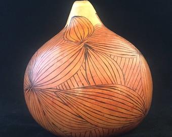 Handcrafted Gourd, Original Artist Abstract Design