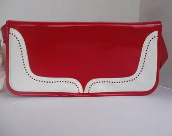 Red & White Purse