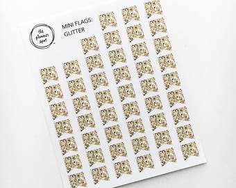 Mini Flag Planner Stickers - Glitter