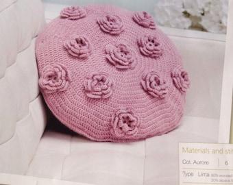 Rose Motif Cushion - Crochet Pattern