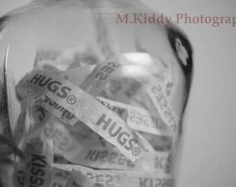 Bottle of Hugs and Kisses print (various sizes)