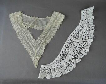 Vintage Lace Neckline Collar & Antique Lace Dress Trim, Edwardian 1900s