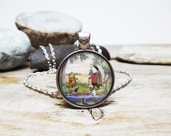 wind in the willows necklace mr toad necklace ratty necklace mole necklace badger necklace wind willows jewelry 80s cartoon jewelry