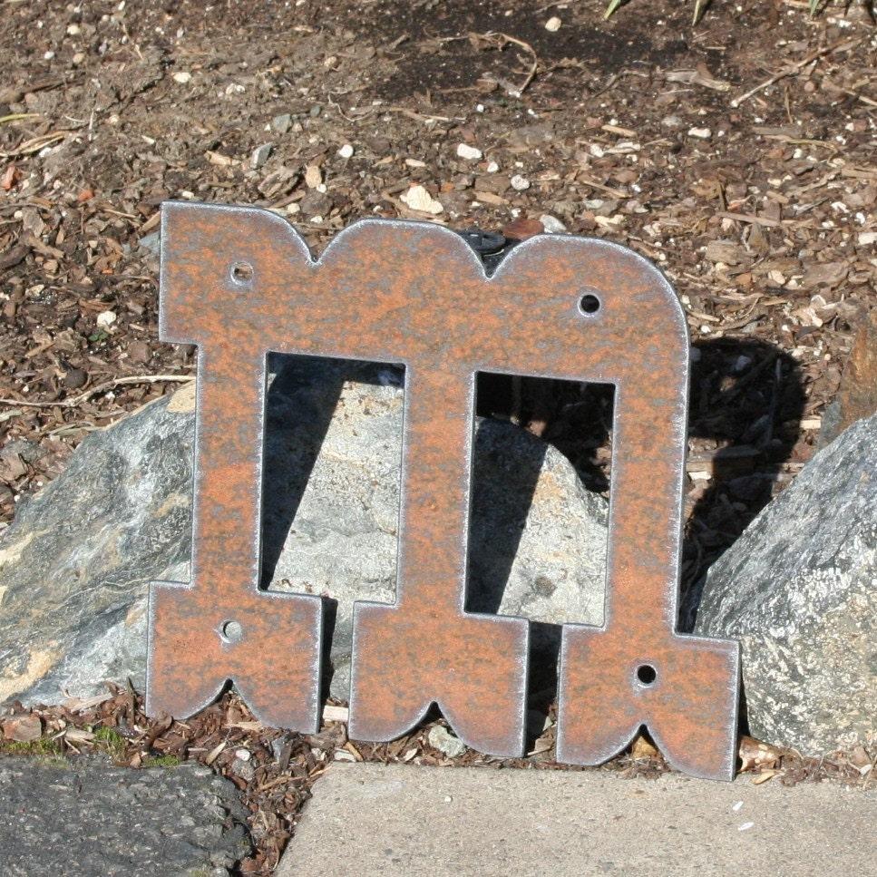 Custom Steel Letters Entrancing Custom Metal Letters Western Rustic Steel Numbers Symbols 8 Inspiration