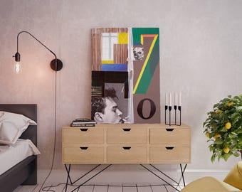 Wall art collage canvas print image - Egoist 7