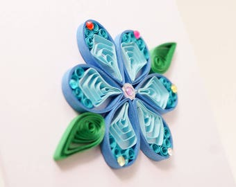 quilled card, paper quilling, quilled paper arts, flower card, handmade card, greeting card, blank card, quiling art, mothers day card