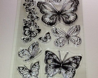 BoBunny Acrylic Stamps, Butterfly Kisses Stamps, Acrylic Stamp Set