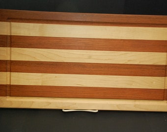 Handmade Exotic Wooden Cutting Board With Juice Groove-