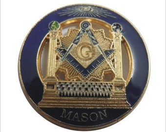 Temple Masonic Lapel Pin