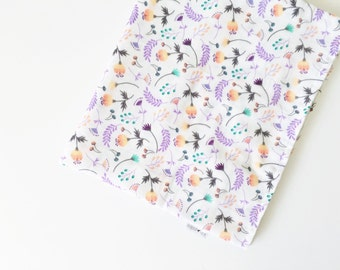 ON SALE***White Floral Muslin Swaddle Baby Blanket