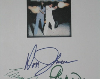 Miami Vice Signed TV Script Screenplay X3 Autographs Don Johnson Edward James Olmos Philip Michael Thomas signatures classic tv drama action