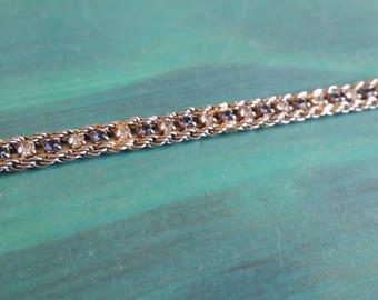 Rhinestone Bracelet - Sapphire & Clear Stones