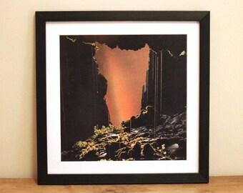 Cave Door - Digital Collage Art Print Poster