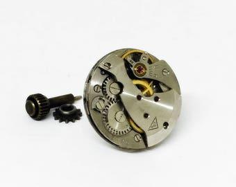 Man's Tie Pin, gift-for-men Steampunk Tie Clip, Vintage watch movement, Old watch movement, Birthday Gift, Boyfriend Gift,
