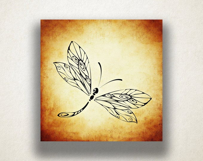 Dragonfly Canvas Art Print, Dragonfly Wall Art, Insect Canvas Print, Artistic Wall Art, Canvas Art, Canvas Print, Home Art, Wall Art