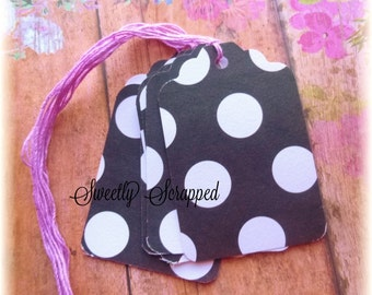 SALE Polka Dot Tags ... Dollar / Black / White / Purple / Price Tags / Journal / Scrapbooking / Price / Boutique / Etsy Shop Supplies