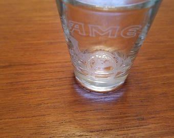 Vintage CAMEL, Toronto and Arizona shot glass