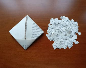 Book Page Heart Confetti