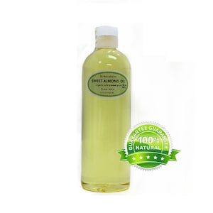 16 OZ Pure Organic Sweet Almond Oil Cold Pressed