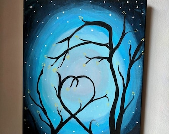 Branching out for love painting