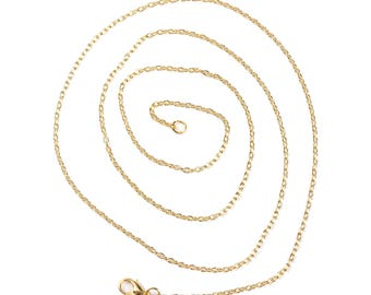 6 mesh chain with gold plated lobster clasp chain necklaces / longer lengths