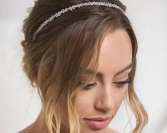 Silver bridal headpiece, Bohemian wedding hair accessories, bohemian bridal headpiece, bridal hair accessories, wedding hair, Prom, H239-S