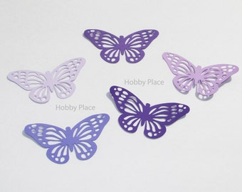 "Paper Monarch butterfly die cuts /purple colors / 15 pc. set /   size from 1.5"" to 5.5"" / big butterfly die cuts"