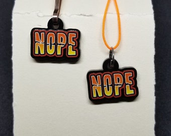 So much NOPE (charms, earrings; what's your flavor?)
