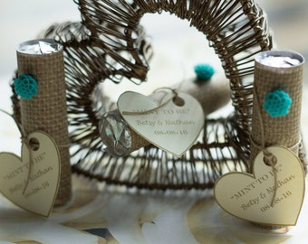 Wedding Favors - Mint Favors - Mint to Be -  Bridal Shower Favors- Personalized - Set of 24