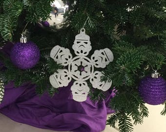 Star Wars Stormtrooper Christmas tree Snowflake Decoration (Set of 4)