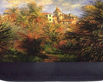 Monet's Garden in Bordighera Painting Print Design - Black Pencil Bag - Pencil Case
