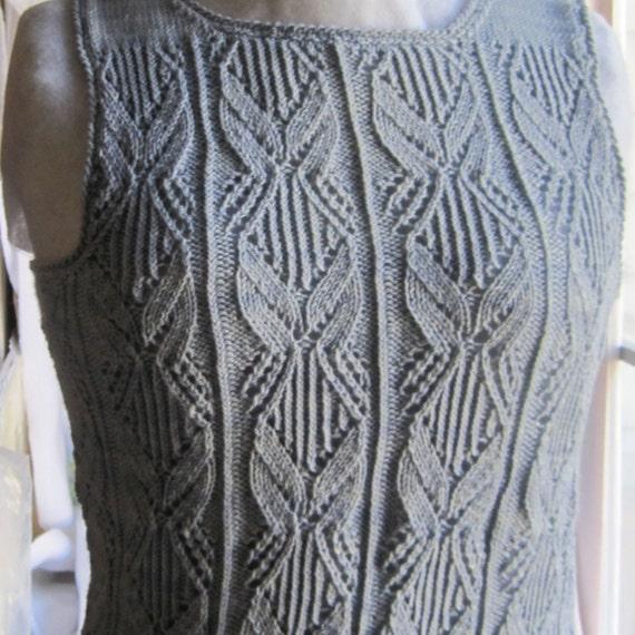 Knit Tank Top Pattern: The Venetry Tank Top Knitting Pattern