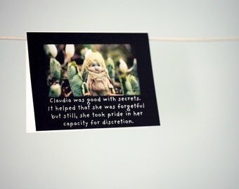 Notecard Photo Card Creepy Porcelain Doll Claudia Was Good With Secrets Funny Stationary