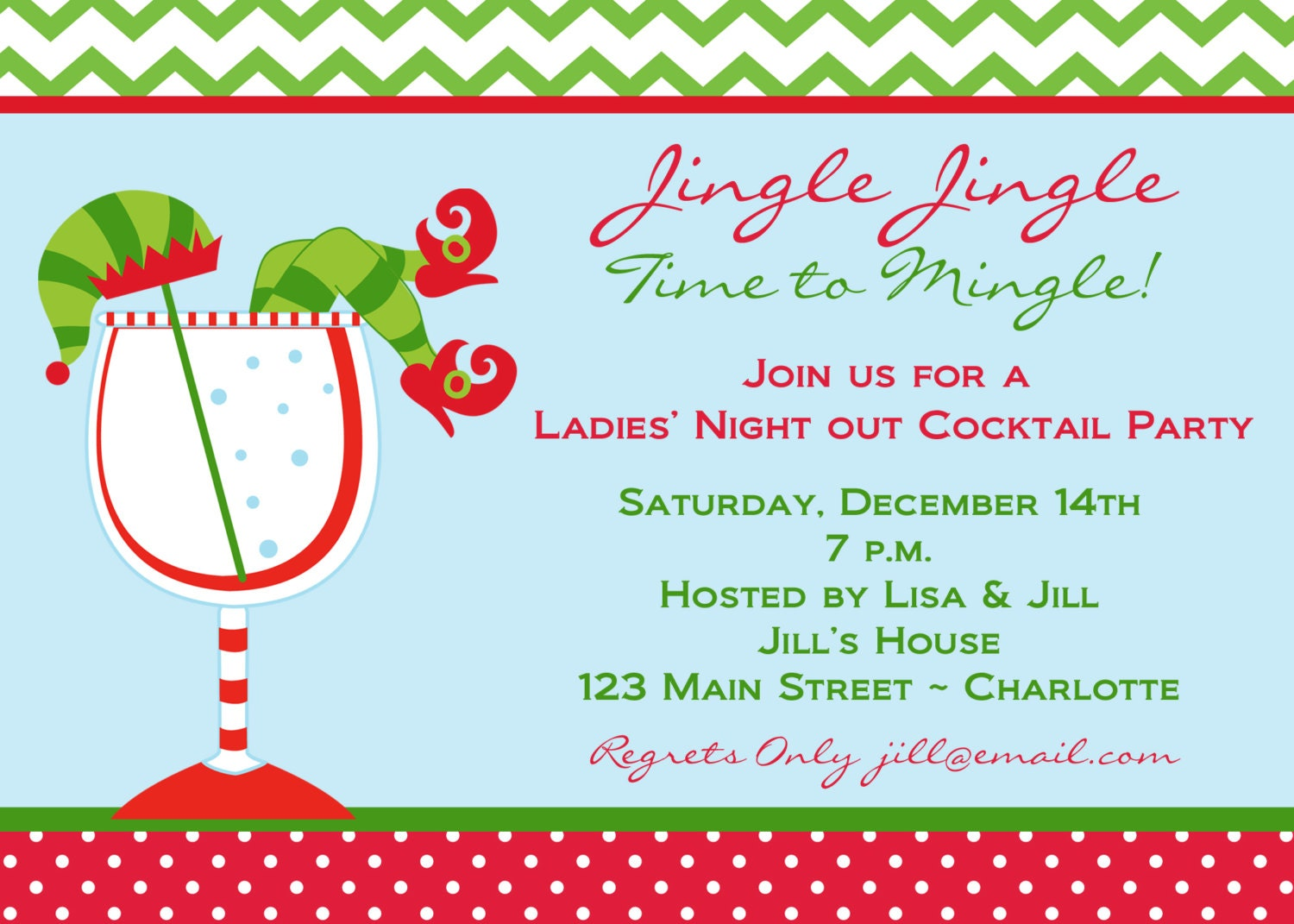 Holiday Party Invitation Ladies Night Out Party Invitation