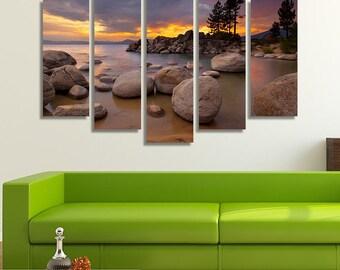 Lake Tahoe Print, Lake Tahoe Art, Sunset Photography, Sunset Print, California Wall Art, California Print, Lake House Décor, Lake Print