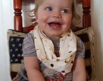 Toddler Gold Polka-dot Infinity Scarf