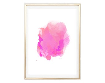 Pink Abstract Art Print,  Minimalist Art, Modern Wall Art, Home Print, Modern Art Abstract, Wall Print, Digital Art, Modern Minimalist Art,