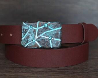 Leather Belt, Brown Leather Belt, Chestnut Brown Leather Belt, Mens Belt, Womens Belt