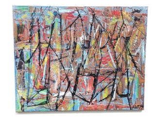 Is Wunna Snake - 16 x 20 mixed media on canvas abstract expressionist